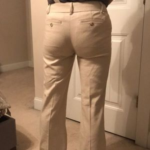Loft Linen Blend Marisa Trouser Pants Size 0 NWT
